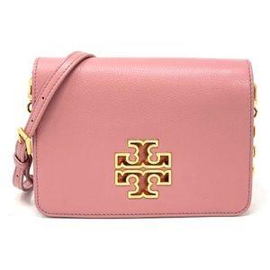 Tory Burch Pink Magnolia & Rolled Gold Britten Bag